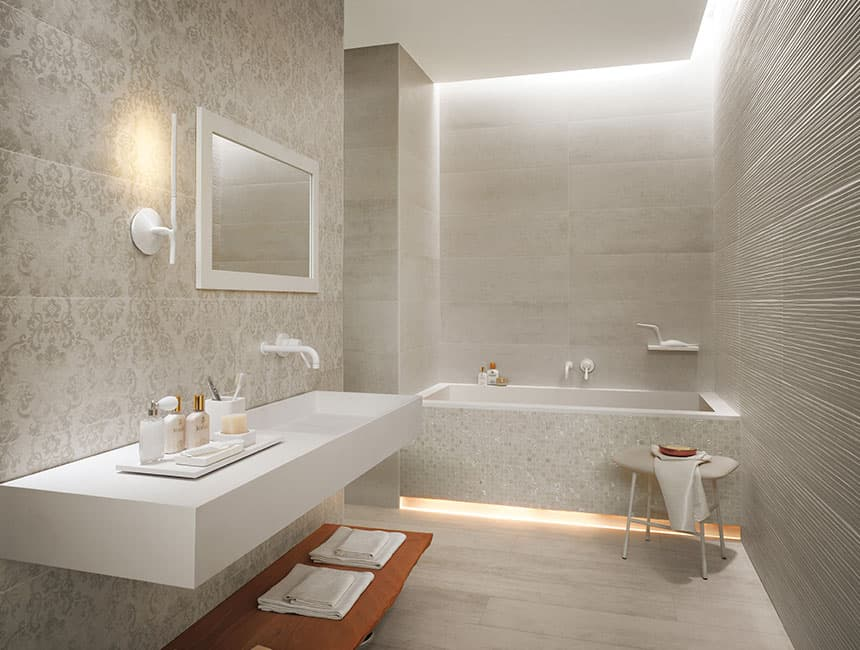 Modern bathroom floor tiles