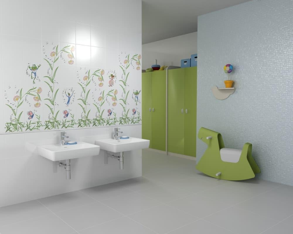 Grass ceramic tile