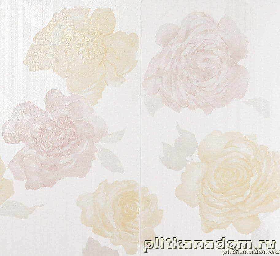 Atlas Concorde Radiance White Flowers C2 Декор 30,5x56 (2 плитки)