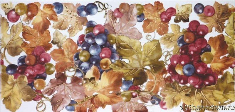 Hispania Ceramica Lubin Decor Grapes White Декор 25х50