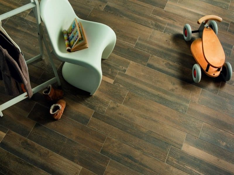 Wood look ceramic floor tile
