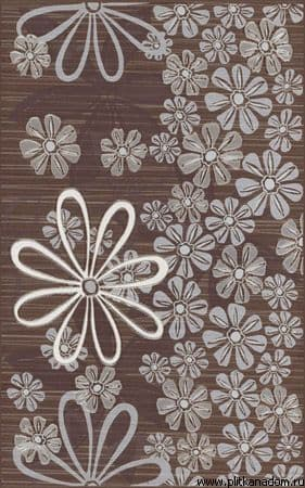Euforia brown 3 Flower декор 25x40