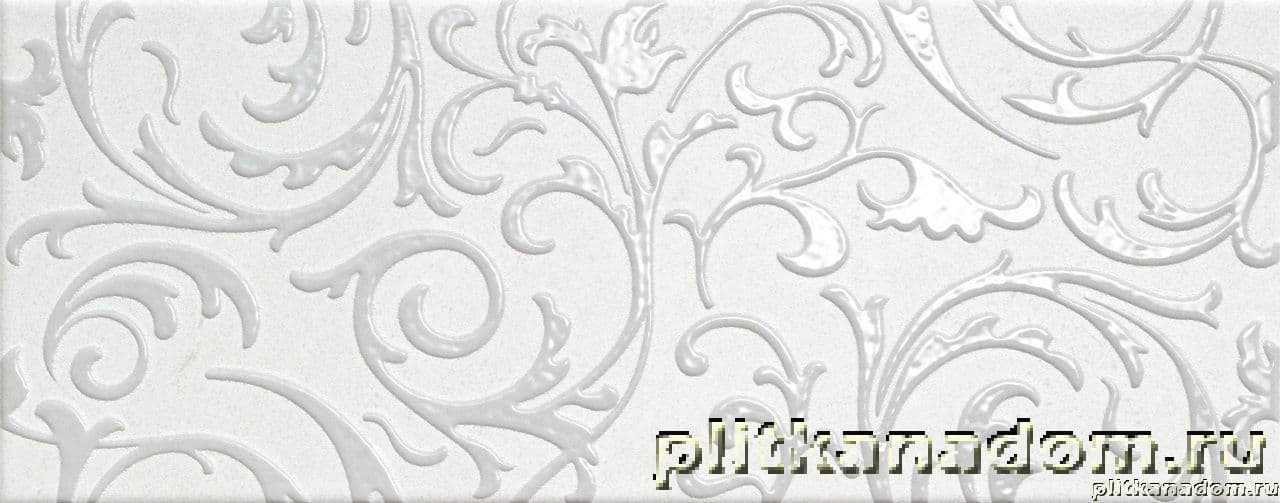 Italon Soft White Inserto Ramage Декор 20х50