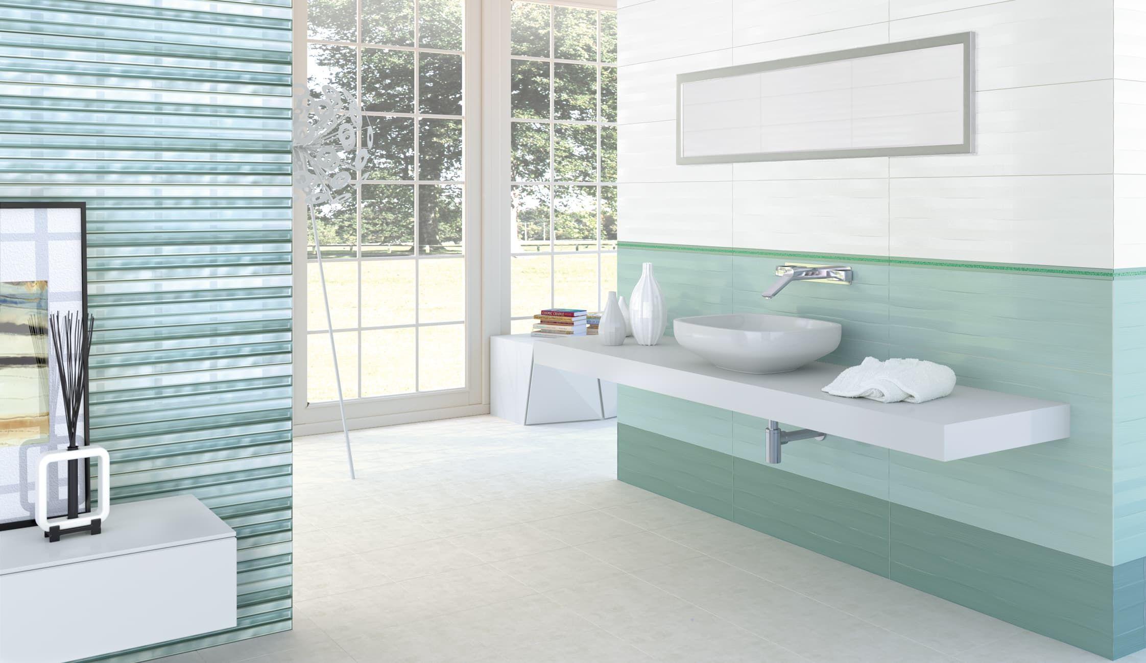 Aqua ceramic tile