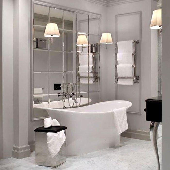 Зеркальная плитка в ванную фото