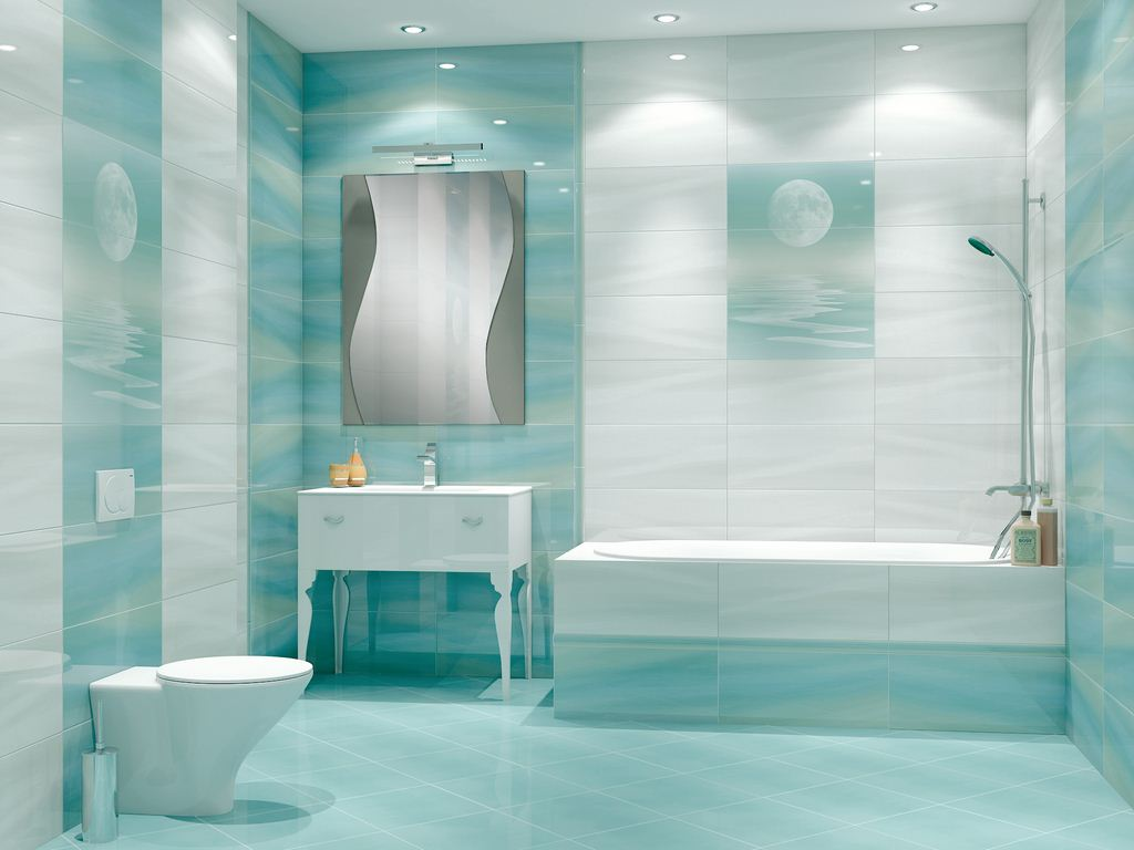 Плитка бирюза для ванной комнаты дизайн
